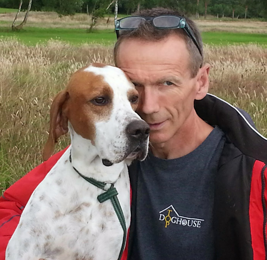 dog behaviourist and English pointer